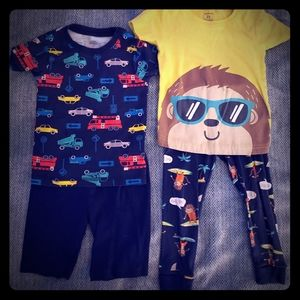 Lot of 2 Carters Pajamas boys size 24M and 2T